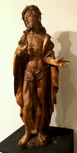 Sculpture  - Limewood figure of Christ, Germany circa 1510