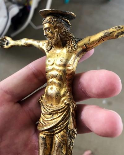 Religious Antiques  - Italian gilt bronze Christ figure, 15th century