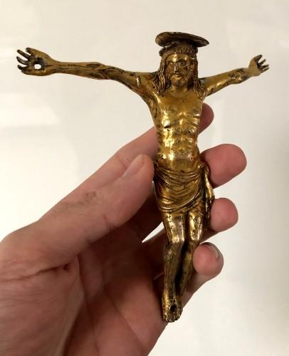 Italian gilt bronze Christ figure, 15th century -