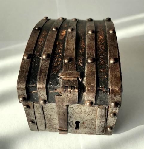 Curiosities  - A miniature leather casket Circa 1500