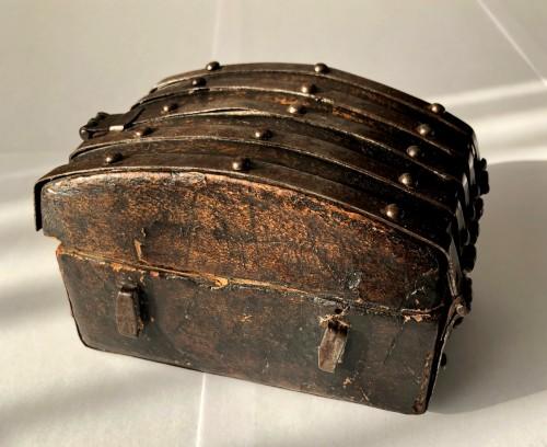 16th century - A miniature leather casket Circa 1500