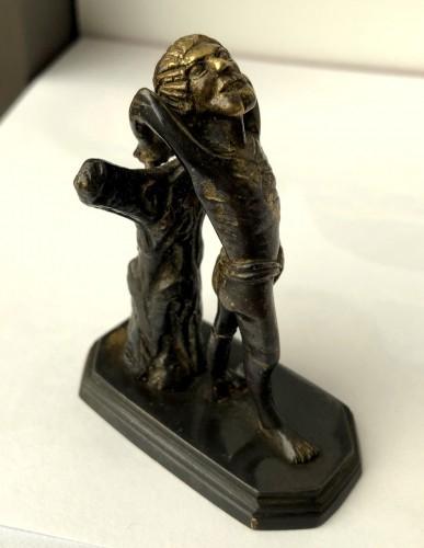 A miniature gilt bronze sculpture.Late 15th century. -