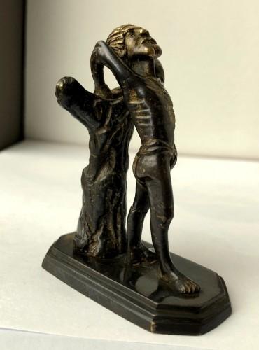 <= 16th century - A miniature gilt bronze sculpture.Late 15th century.