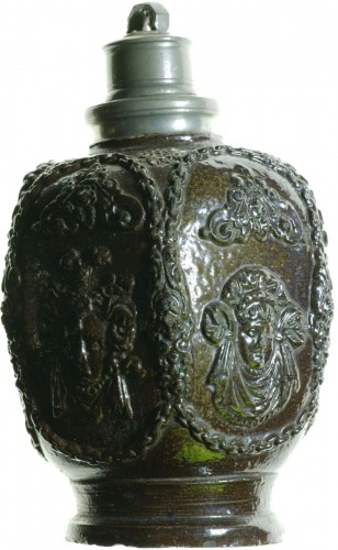 Creussen stoneware flask.Germany circa 1620