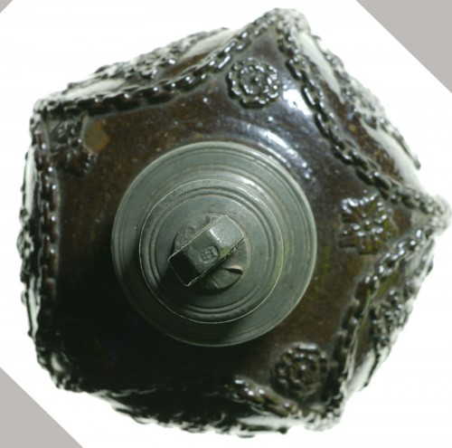 Collectibles  - Creussen stoneware flask.Germany circa 1620