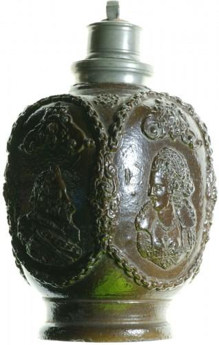 - Creussen stoneware flask.Germany circa 1620