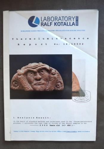 - A Celtic terracotta Antefix. Circa 300 BC