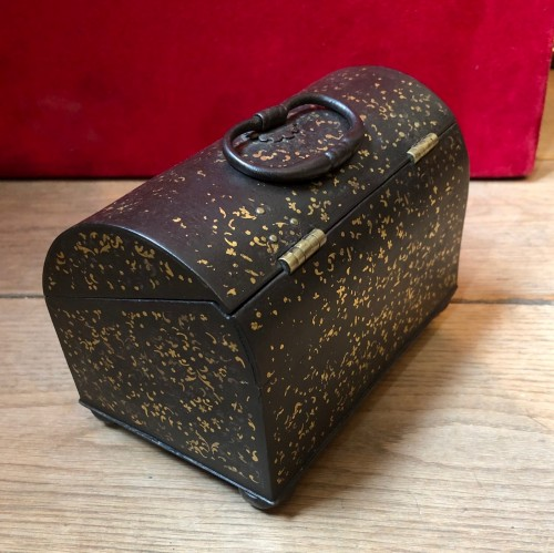 A gold damascened iron casket.France 16th century -