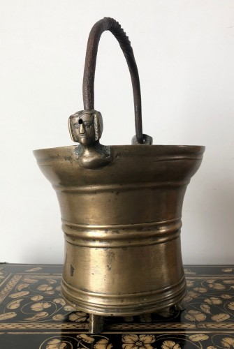 Holy water bucket, Dutch late15th century - Religious Antiques Style Middle age