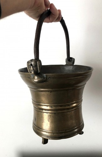 Religious Antiques  - Holy water bucket, Dutch late15th century