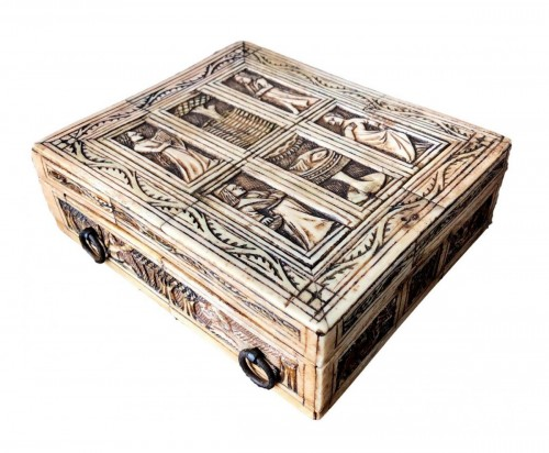 Important bone game box.Netherlandish circa 1440-1460.