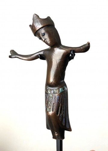 Limoges enameled Corpus Christ.13th century. - Religious Antiques Style Middle age