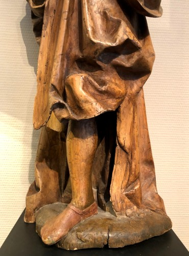 16th century - German limewood statue of St-James.Early 16th century.