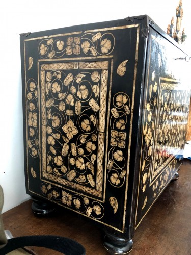 - Indo-Portugese table cabinet.Late 17th century.