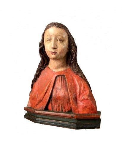 German bust of a female Saint.Early 16th century.