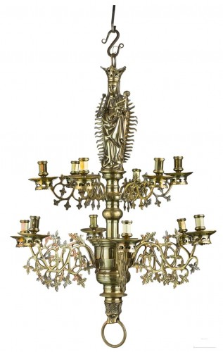 A gothic style brass chandelier.Nurnberg.Circa 1450.