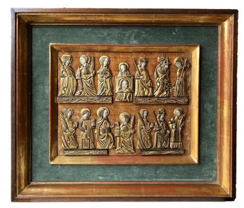 A collection of small painted bone figures.Flemish.Circa 1450