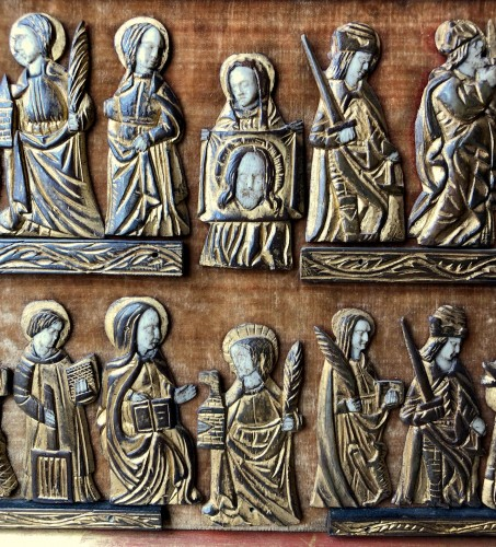 <= 16th century - A collection of small painted bone figures.Flemish.Circa 1450