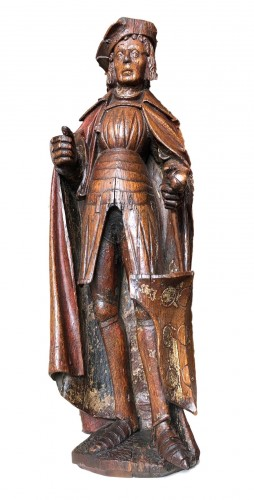 An oak statue of St-Victor, Rhenish Circa 1480