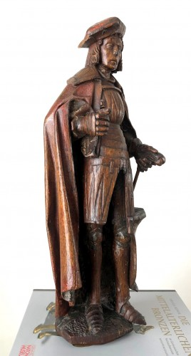 An oak statue of St-Victor, Rhenish Circa 1480 - Sculpture Style Middle age