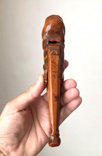 Curiosities  - A boxwood nutcracker, France18th century