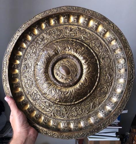 A gilt copper Venetian dish Circa 1550 - Religious Antiques Style Renaissance