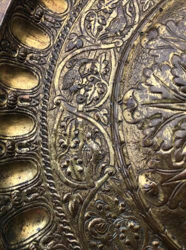 <= 16th century - A gilt copper Venetian dish Circa 1550