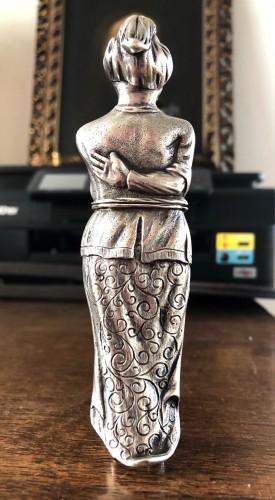 Objects of Vertu  - A rare silver 'Turk' etui.18th century