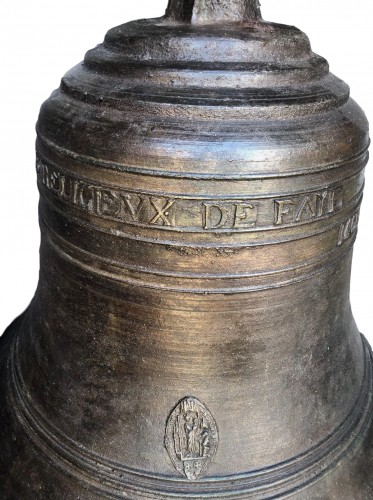 17th century - A large bronze bell.France.17th century