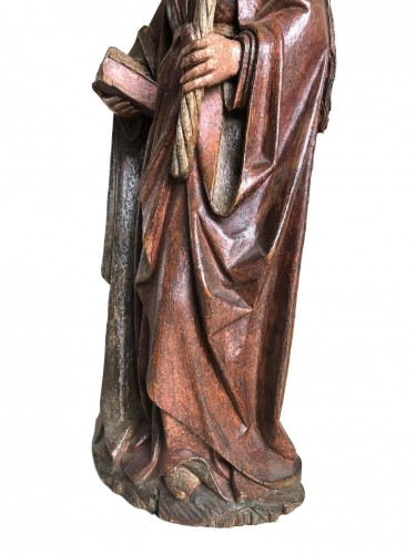 A Swabian sculpture of St-Genevieve.Circa 1480. - Sculpture Style Middle age