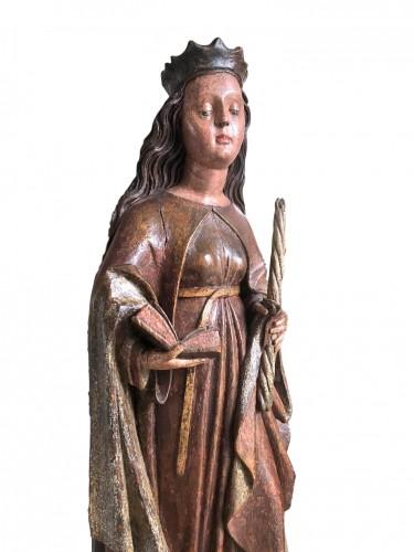 Sculpture  - A Swabian sculpture of St-Genevieve.Circa 1480.
