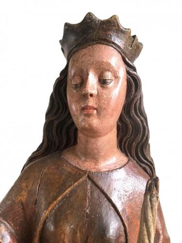 A Swabian sculpture of St-Genevieve.Circa 1480. -