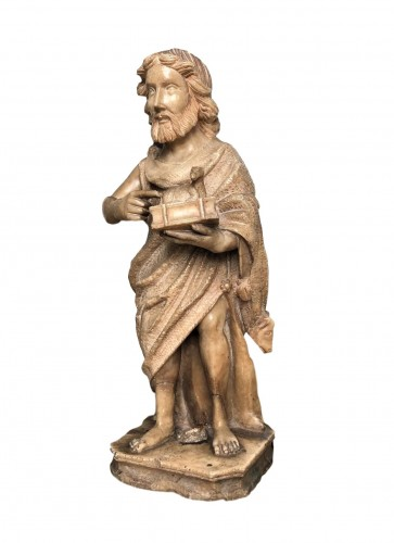 An alabaster sculpture of St-John the Baptist.16th century