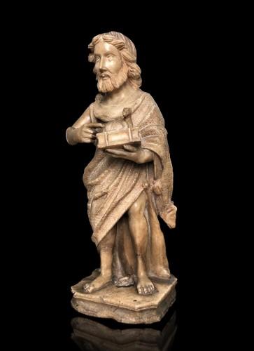An alabaster sculpture of St-John the Baptist.16th century - Sculpture Style