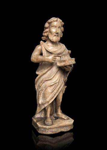 Sculpture  - An alabaster sculpture of St-John the Baptist.16th century