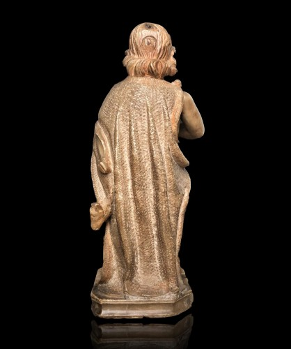<= 16th century - An alabaster sculpture of St-John the Baptist.16th century