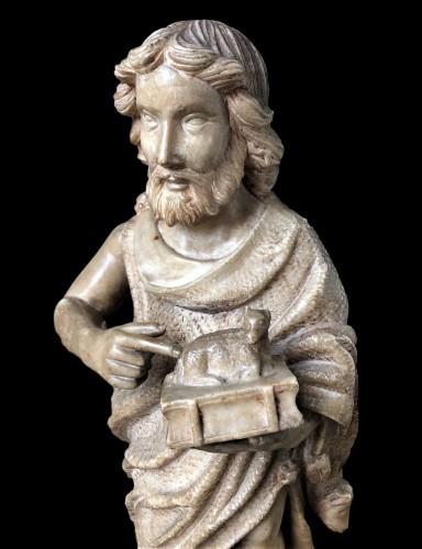 An alabaster sculpture of St-John the Baptist.16th century -