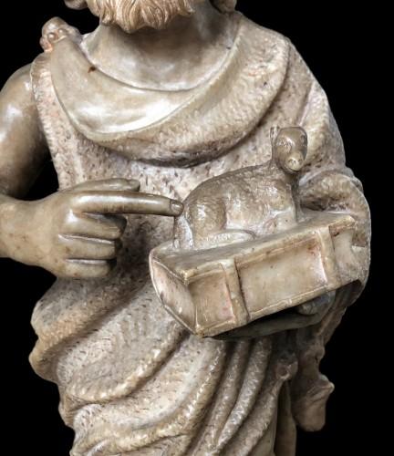 - An alabaster sculpture of St-John the Baptist.16th century