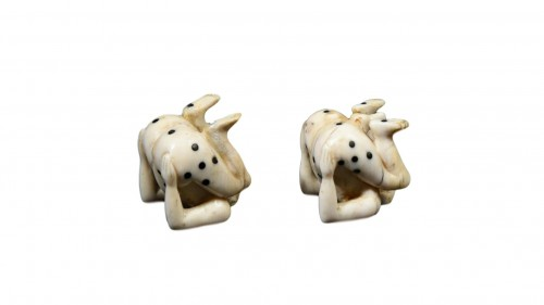 Pair of erotic gambling dice - German circa 1700