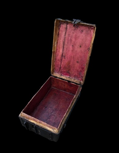 A gothic leather casket.France.15th century - Middle age