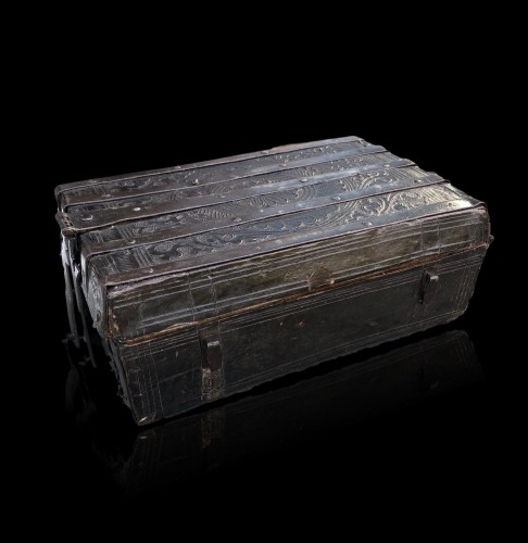 Middle age - A gothic leather casket.France.15th century