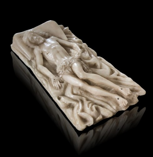 An alabaster carving of the entombed Christ.Circa 1600 -