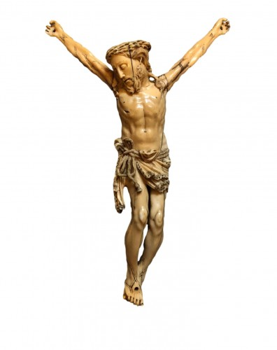 A Goa ivory Christ.17th century