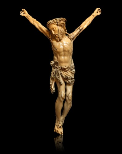 A Goa ivory Christ.17th century - Religious Antiques Style