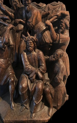 Christ crowned with Thorns oak group.Early 16th century -