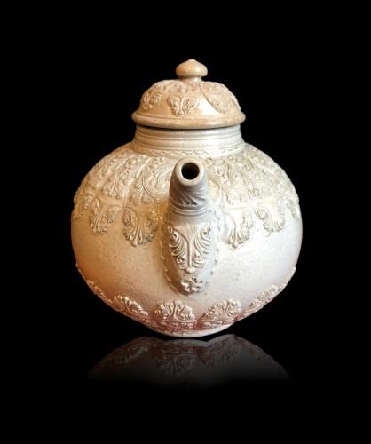 Porcelain & Faience  - A Westerwald stoneware teapot, 18th century