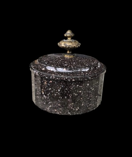 A Swedish poprhyry butter box Circa 1810 -