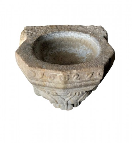 Stone holy water font,17th century