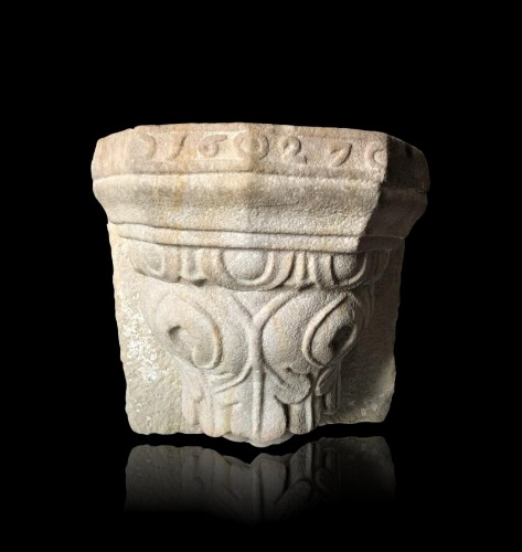 Religious Antiques  - Stone holy water font,17th century