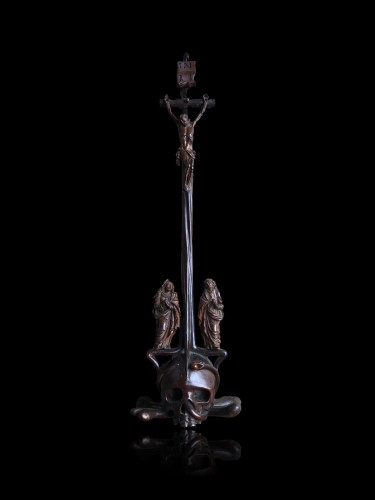 A German boxwood Crucifix. 17th century. - Religious Antiques Style Louis XIV